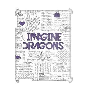 YUAHS(TM) Unique Design 3D Cell Phone Case for Ipad 2,3,4 with imagine dragons YAS932251