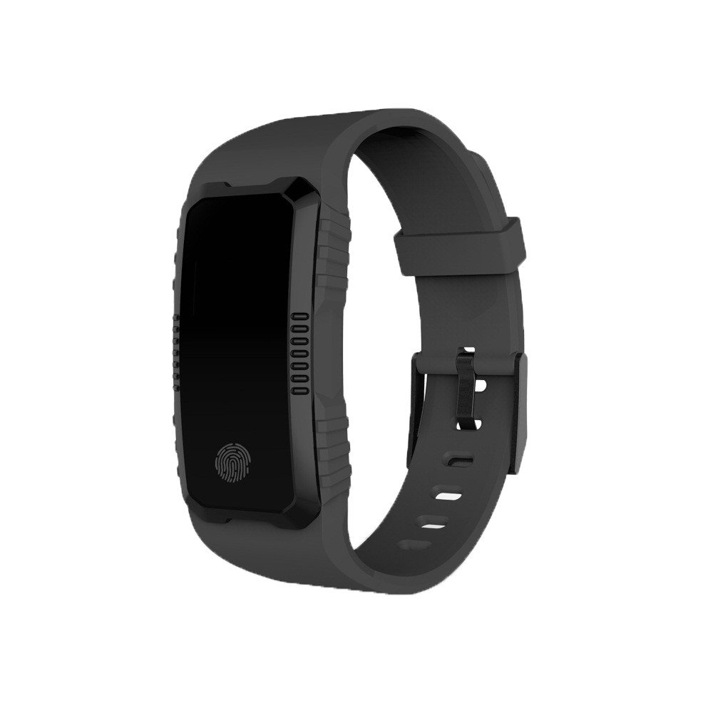 Wrist Waterproof Bluetooth Smart Watch Heart Rate Blood Pressure Monitor Sport Watch (Black)