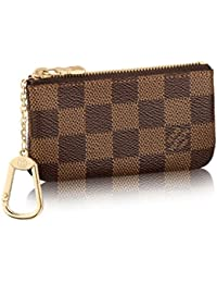 Damier Canvas Key Pouch Key Ring N62658 Made in France. Louis Vuitton