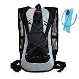 haoYK 5L Waterproof Backpack Lightweight Hydration Bladder Bag Sport Water Bag (2L) with Reflective for Women Men Running Ski Hiking Cycling Bike Mountain