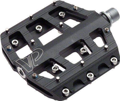 VP Components VP-Vice Pedal Set, MTB BMX Bike Pedals, 9/16-Inch Spindle, Aluminum Platform with Replaceable Anti-slip Pins