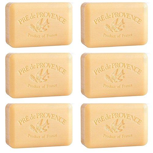 Pre De Provence Sandalwood Soap 250g Gram 8.8 Ounce Shea Butter Enriched 6 Pack ()