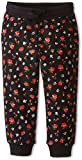 Dolce & Gabbana Kids Baby Girl's Back To School Floral Sweatpants (Toddler/Little Kids) Black/Rose Print 2T Toddler X One Size