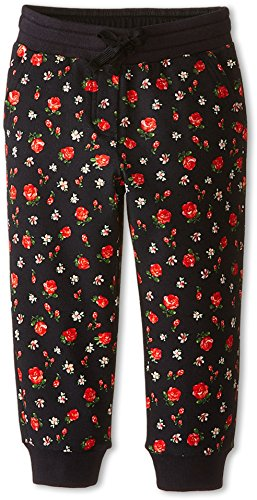 Dolce & Gabbana Kids Baby Girl's Back To School Floral Sweatpants (Toddler/Little Kids) Black/Rose Print 2T Toddler X One Size by Dolce & Gabbana