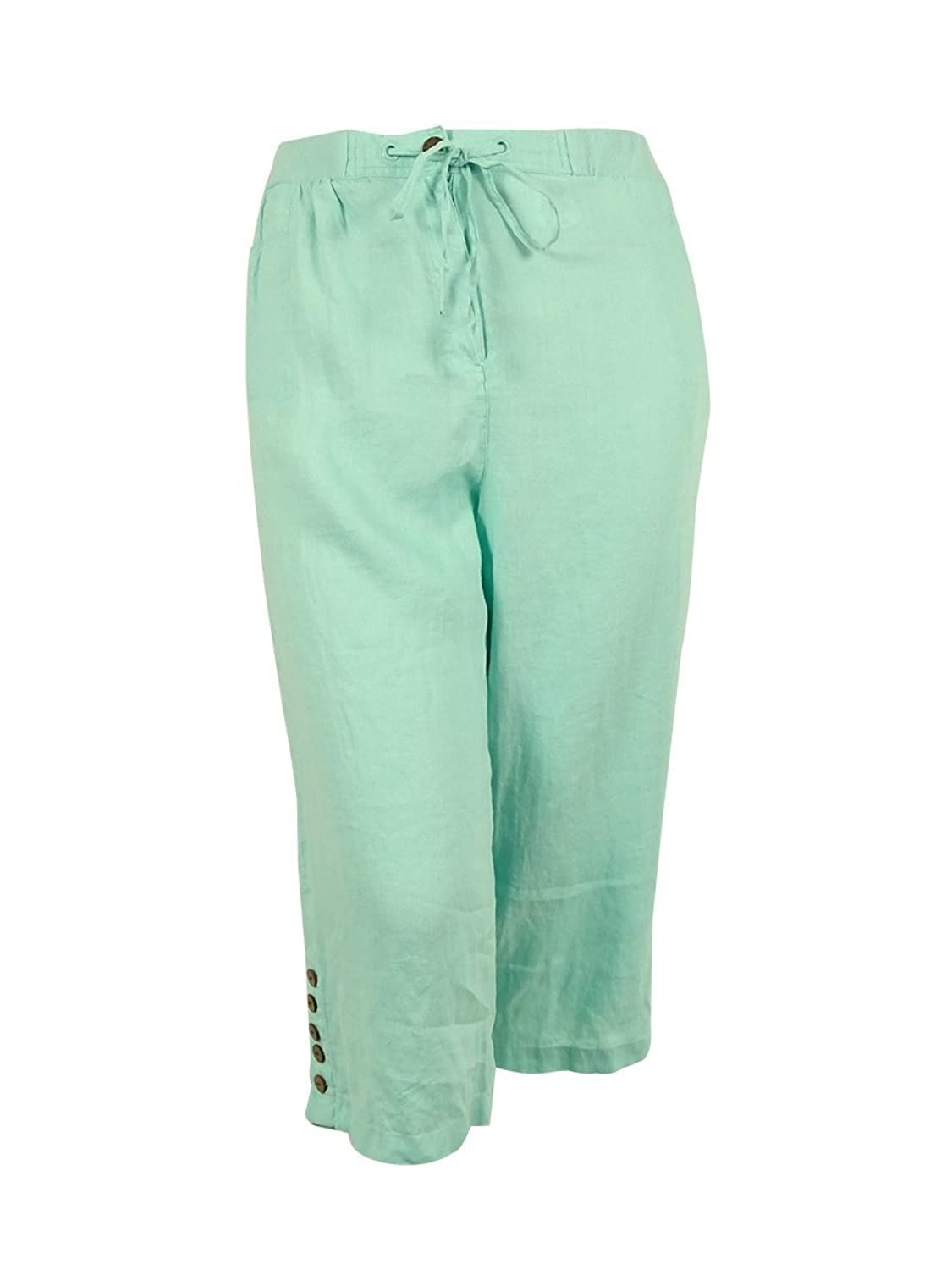 Jm Collection Plus Size Clear Mint Capri Pants