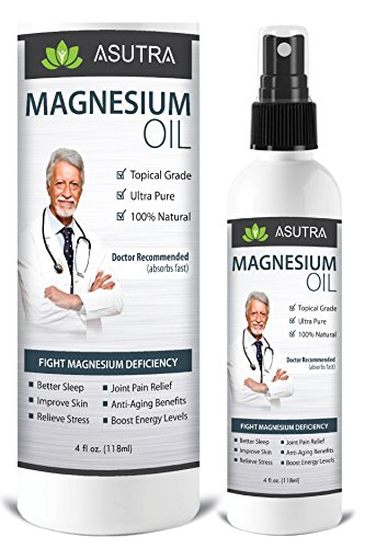 Pure Zechstein Magnesium Oil Spray - Triple Filtered for LESS ITCH & LESS STING / Effective Rapid Transdermal Absorption - Ultra Pure & Potent + FREE Magnesium E-Book (one 4oz bottle)