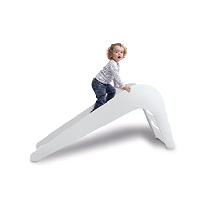 Jupiduu - The Lovely Kids Slide Made From Wood (White): Kitchen & Dining