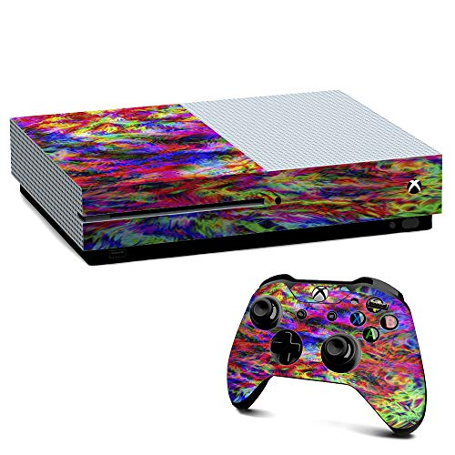 IT'S A SKIN Xbox One S Console & Controller Decal Vinyl Wrap | tye dye fibers felt tie die colorful