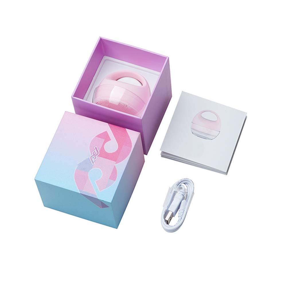 スーパーソフトシリコン 電動洗顔ブラシ,USB充電 防水 インテリジェント乾燥 滑り止めアンチドロップデザイン 毛穴ケア 洗顔器 クレンジング ブラシ B07RDMWS34