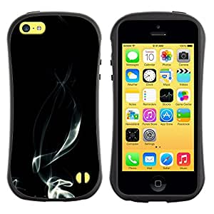 Suave TPU GEL Carcasa Funda Silicona Blando Estuche Caso de protección (para) Apple Iphone 5C / CECELL Phone case / / Cigarettes Smoking Smoker Black White /