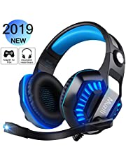 Gaming Headsets, Muzili Over Ear Headphones with Mic 7.1 Surround Sound Noise Cancelling Volume Control Gaming Headphones for PS4, PC, Xbox One, Switch Games