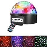 Intsun Disco Ball Strobe Light Party Lights, 6 Color Sound Activated Stage Lights with Remote Control MP3 Player for Home Dance Birthday DJ Bar Karaoke Xmas