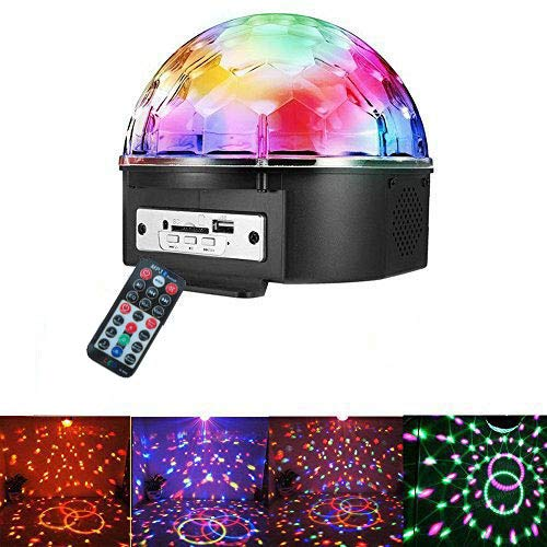 Intsun Disco Ball Strobe Light Party Lights, 6 Color Sound Activated Stage Lights with Remote Control MP3 Player for Home Dance Birthday DJ Bar Karaoke Xmas by Intsun