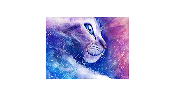 WOBANG Diamond Painting, León Cat personalidad 5D diamante dibujo ...