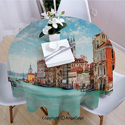 und Tablecloth,Grand Canal and Basilica Santa Maria Della Salute Historical Architecture,63