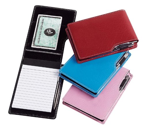 Leather Leather Jotter Note Pad (Set of 3) Color: Black by GOODHOPE Bags