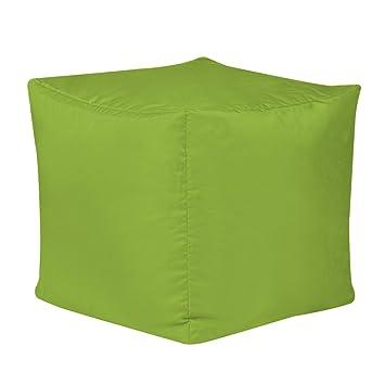 Bean B Silla sacco Impermeable en Forma de Cubo, Color Verde Lima, para Uso en Exteriores e Interiores: Amazon.es: Jardín