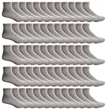 Yacht & Smith Mens & Womens Ankle Wholesale Bulk Pack Athletic Sports Socks, by SOCKS'NBULK (Mens 10-13 (Shoe Size 7-12), 120 Pairs Gray)