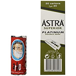 100 Astra Superior Platinum and Arko Shaving Soap Stick