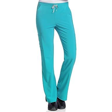 "76fb9676224 Urbane Performance Women's Modern Fit ""Endurance"" Cargo Scrub Pant Sky Blue  PLG"