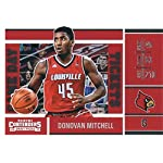 Donovan Mitchell basketball card (Louisville Cardinals, Utah Jazz) 2017 Panini.