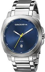 Quiksilver Men's QS/1005BLSV THE SOVEREIGN Date Function Silver-Tone Bracelet Watch