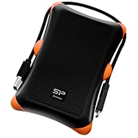 Silicon Power 1TB PS4 Xbox Compatible Type C USB 3.0 Rugged Armor A30 Military-grade Shockproof 2.5 Inch Portable External Hard Drive for PC and Mac - Black (SP010TBPHDA30S3KAZ)