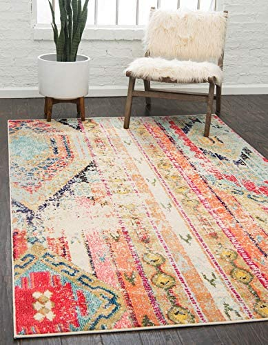 Unique Loom Sedona Collection Distressed Southwestern Tribal Multi Area Rug 5 0 x 8 0