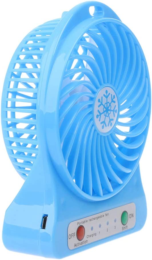 cici store 3 Speeds Wind Desk Fan with LED Light,USB Small Fan for School Office