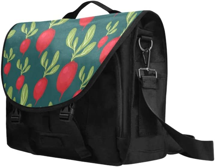 Woman Bag Beautiful Varied Pink Radish Multi-Functional Travel Laptop Carrying Case Fit for 15 Inch Computer Notebook MacBook