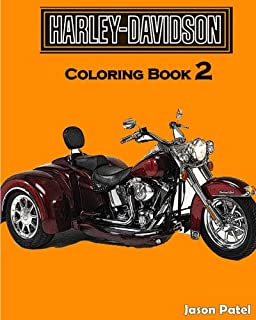 Amazon.com: Time2Color: Harley Davidson Motorcycles: An Adult ...