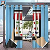 Outdoor- Free Standing Outdoor Privacy Curtain Hand holding mobile tablet and touching screen smartphone with buy button and fo for Front Porch Covered Patio Gazebo Dock Beach Home W96' x L96'/Pair