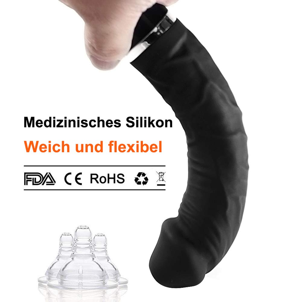 Vibratoren für Sie Klitoris und G-Punkt mit Stoßfunktion, Ultra Weich Silikon Vibratoren für Sie Leise und Stark, Massagestab für Frauen Sex Wasserdicht, USB Wiederaufladbar, Schwarz