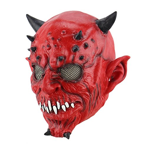 Halloween Terrorist Satan Mask Yaksha Costume Party Props(Hell Devil Mask) -