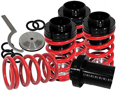 Rxmotor Mazda Miata Mx5 Mx-5 Scale Coilover Lowering Spring Damper Lower Coil for 1990-1997 (RED) Miata Lowering Springs