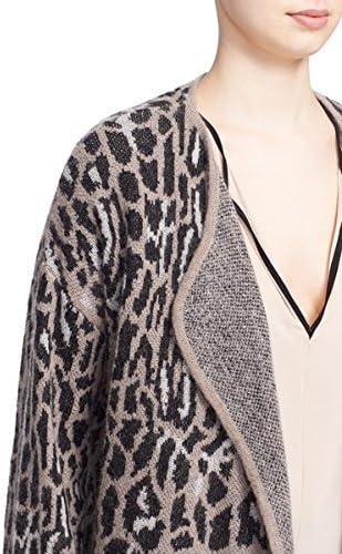 Joie Berit Print Open Front Wool Blend Cardigan