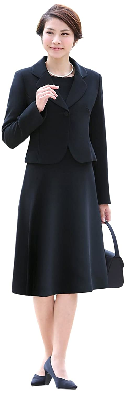 (ニナーズ)nina's ブラックフォーマル 喪服 礼服 レディース 女性用 スーツ アンサンブル ジャケット ワンピース オールシーズン 大きいサイズ BS-0108 [5~25号] B00DUOO0H2 プチサイズ5号