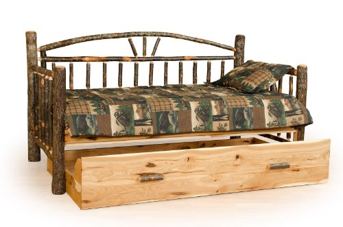 Rustic Hickory Day Bed with Trundle- Amish Made (Amish Daybed)