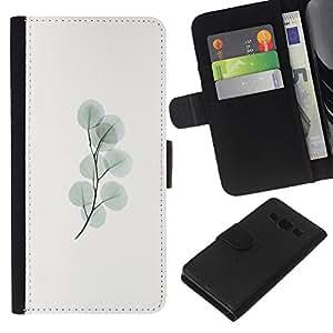 WINCASE Cuadro Funda Voltear Cuero Ranura Tarjetas TPU Carcasas Protectora Cover Case Para Samsung Galaxy A3 - minimalista rama pastel