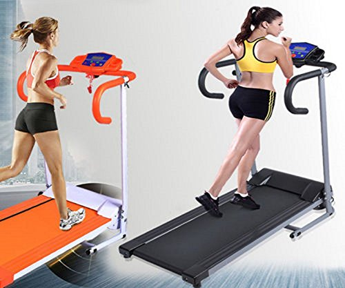 Goplus 500W Folding Electric Treadmill Portable Motorized Running Machine Black by Unknown