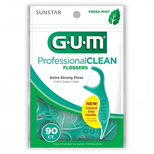 Gum Professional Clean Flossers, Fresh Mint 90 ea (Pack of ()