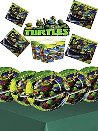 Teenage Mutant Ninja Turtles Kids Birthday Party Kit For 16 Amazoncouk Toys Games