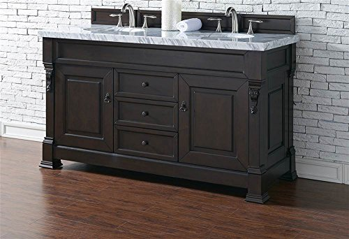 James Martin Furniture Double Cabinet Vanity, 60-Inch, Burnished Mahogany