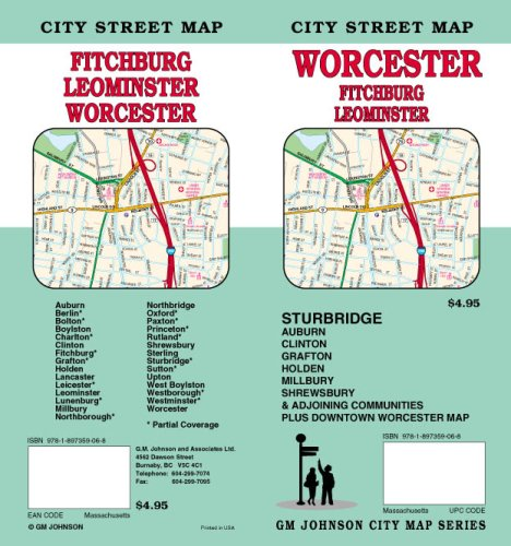 Worcester / Fitchburg / Leominster MA Street Map