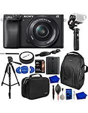 $1258 » Sony a6400 Mirrorless Digital Camera with 16-50mm Lens Bundle with Zhiyun-Tech Gimbal Stabilizer, Extra Sony NPF-W50 Battery, Backpack, Handy Case, Tripod, 64GB Memory Card + More | Sony Alpha 6400