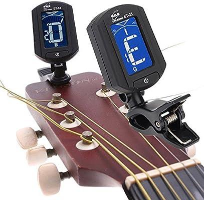 Liamostee ET-33 Mini LCD Clip-on Afinador de Guitarra para Digital ...