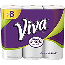 VIVA Choose-A-Sheet Paper Towels, White, Big Roll, 6 Rolls