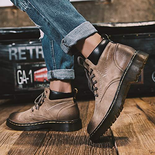 EAOJRSCSA Martin Stiefel Herren High-Top Lederstiefel Retro Stiefel Desert Schuhe Wild In Der Werkzeug Stiefel Herren Stiefel