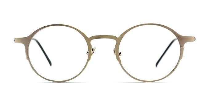 cef05114e52 Amazon.com  TIJN Striking Thin Minial Round Frame Eyeglasses for Men ...