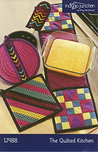Indygo Junction The Quilted Kitchen Potholder Sewing Pattern Set